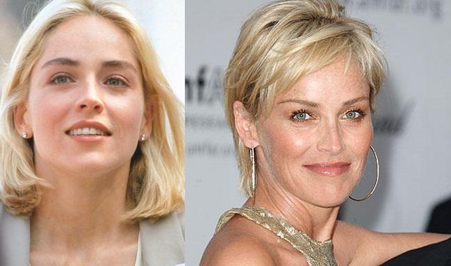 Sharon Stone prima e dopo