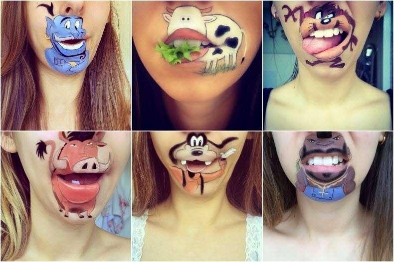 Laura jenkinson: i cartoni animati sulle labbra impazzano sul web