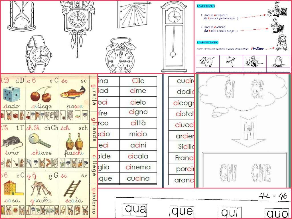Schede ortografiche per la classe prima foto pourfemme for Parole con la gi