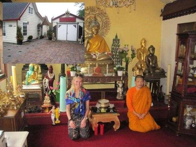 Zilla in un tempio buddista