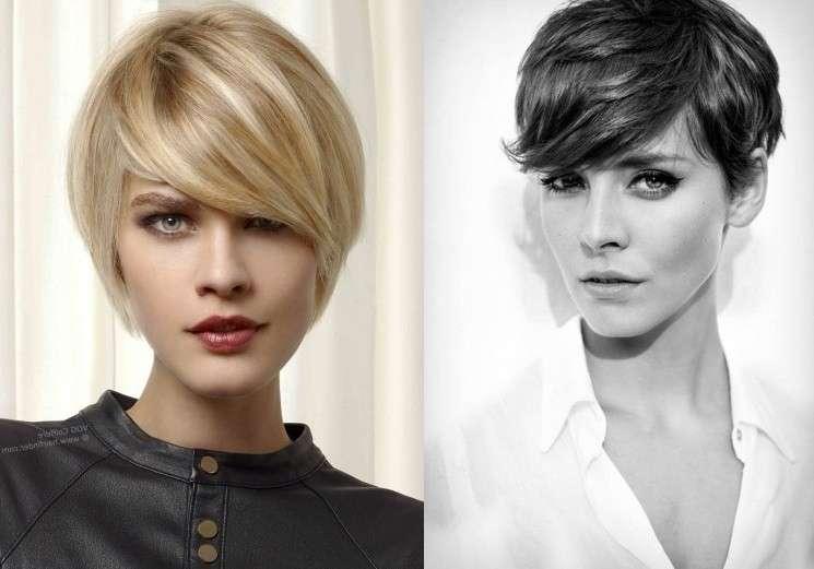 Taglio capelli corti 2019 donne viso lungo