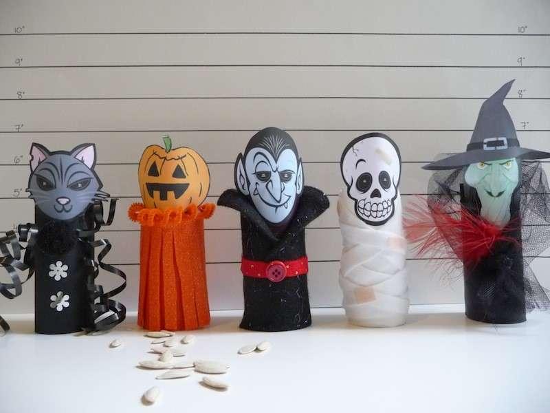 Lavoretti di Halloween con rotoli di carta igienica [FOTO]