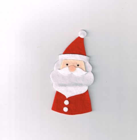 Babbo Natale in pannolenci
