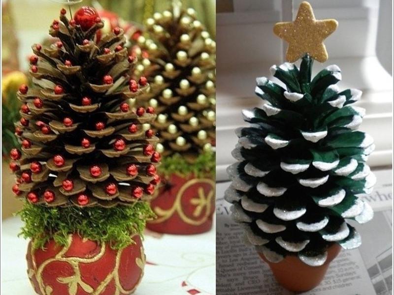Quali addobbi di Natale con le pigne preferisci?