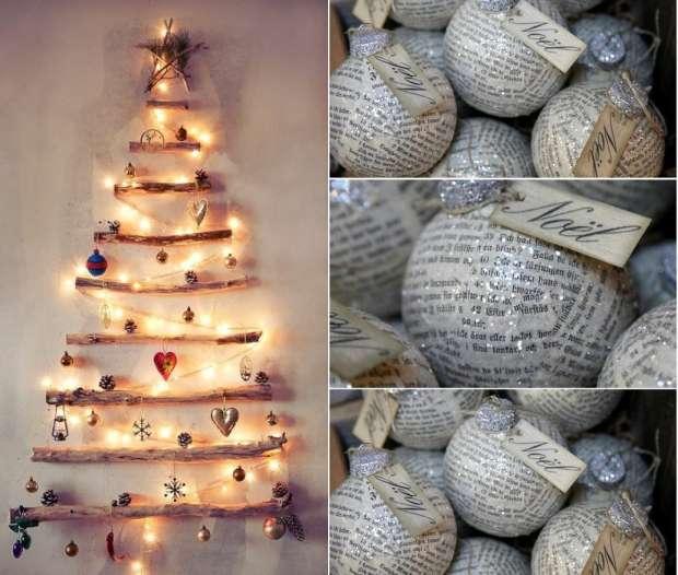 Decorazioni natalizie con il riciclo creativo [FOTO]