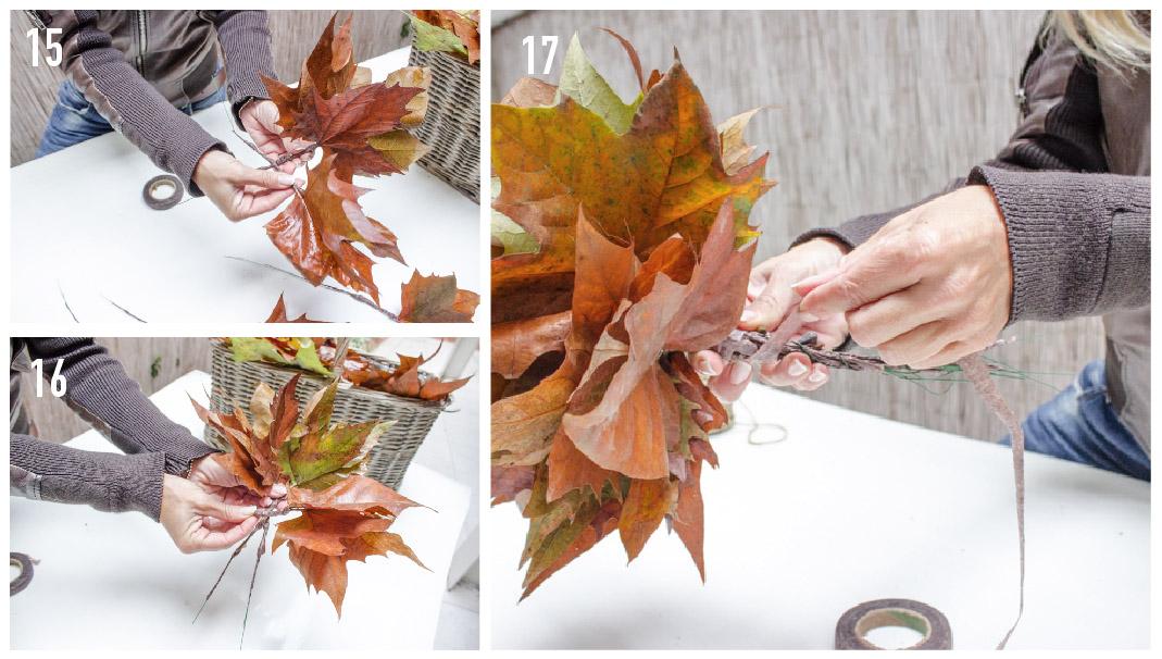 fasi di lavorazione foglie