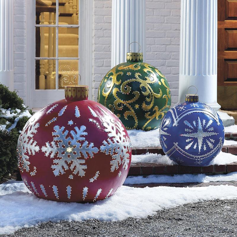 palle grandi natale giardino