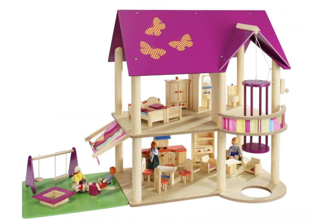 La casa delle bambole in legno idee fai da te foto for Casa idee fai da te
