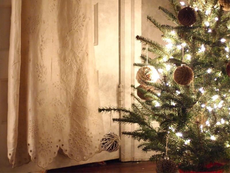 Palline di Natale con lo spago