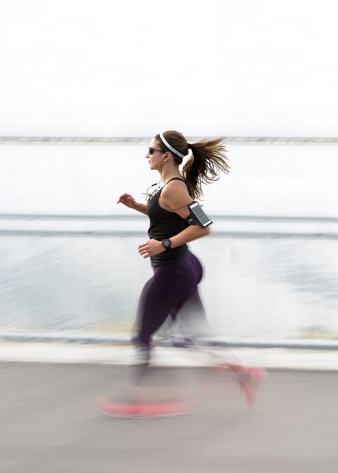 donna jogging