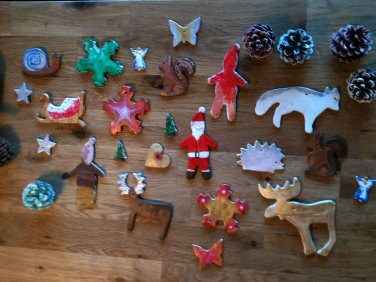 Lavoretti Di Natale Col Das.Lavoretti Di Natale Con Il Das Tante Idee Creative Foto