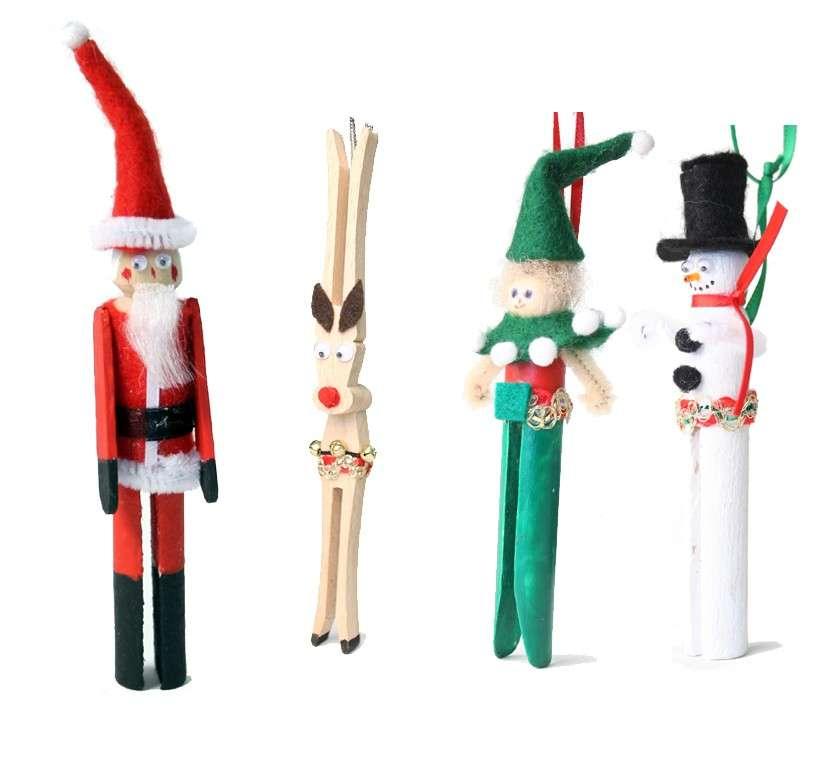 Addobbi natalizi con mollette di legno: idee per bambini [FOTO]