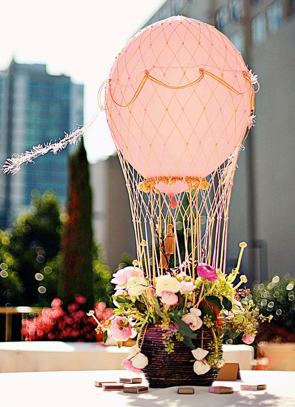 mongolfiera palloncini
