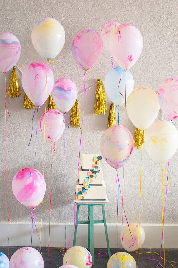 palloncini dipinti festa decorazioni