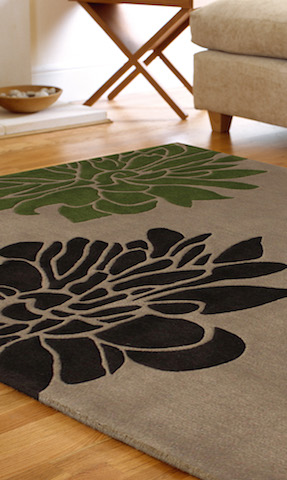tappeto moderno flora