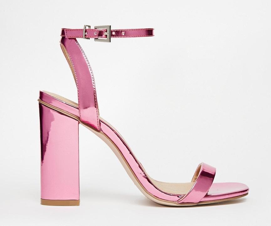 Sandali rosa laminati Asos