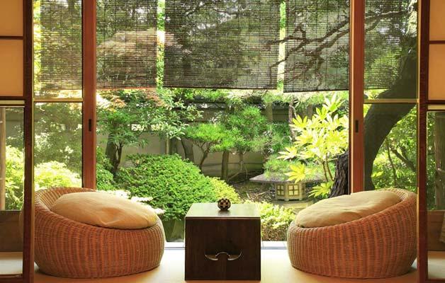 casa stile orientale verde