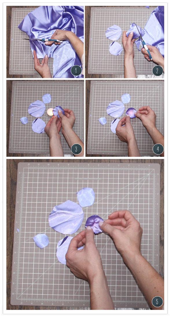 fiori petali raso