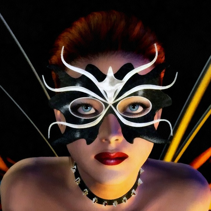 Maschera di Carnevale a farfalla