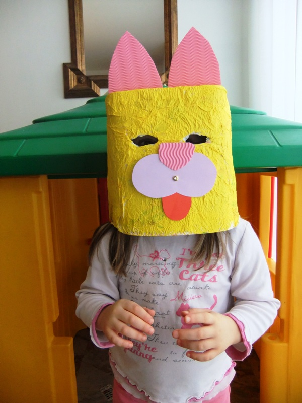 maschere cartone bambini