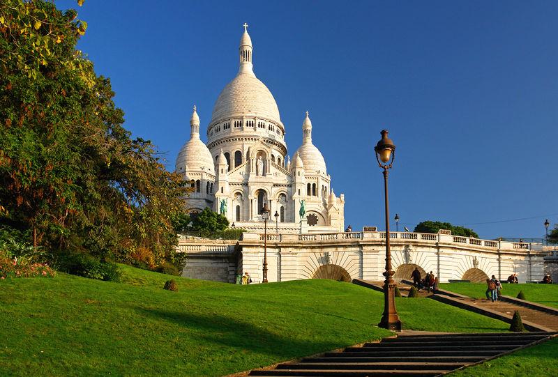Sacre Coeur auf dem Montmartre, Paris, Ile de France, Frankreich