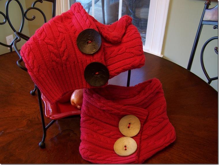 scaldacollo rosso vecchi maglioni