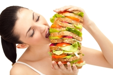 Mangiare hamburger m