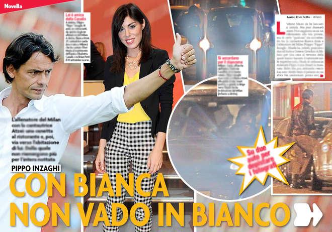 Pippo Inzaghi e Bianca Atzei stanno insieme