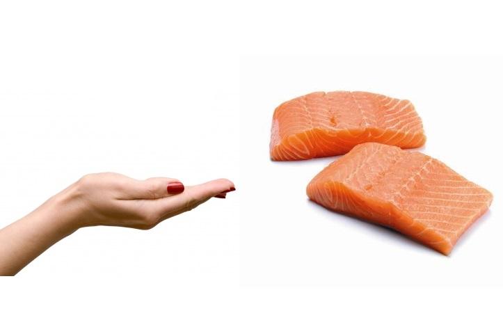 Salmone porzioni