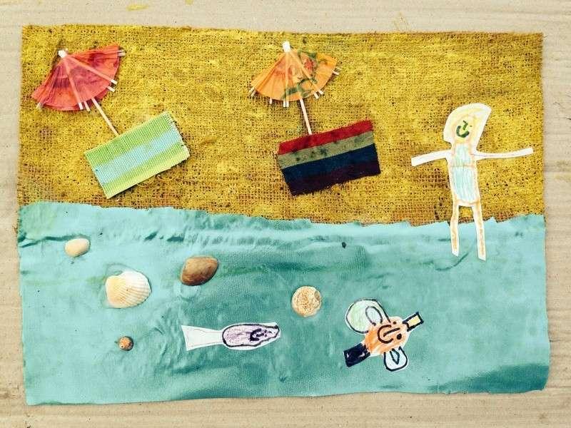 Collage per bambini da fare con la stoffa [FOTO]