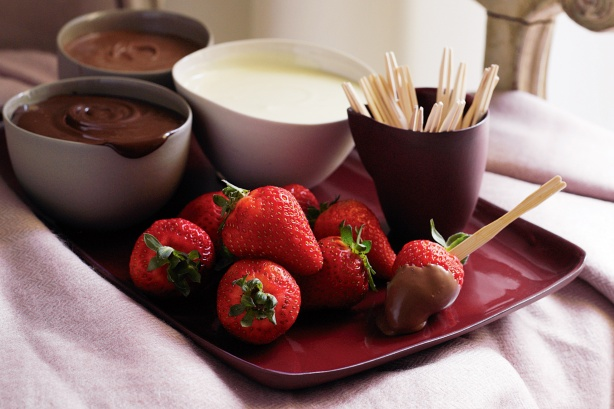 Frutta ricopera di cioccolato