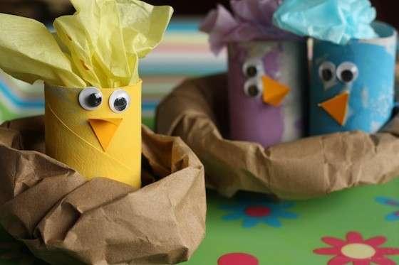 Lavoretti di Pasqua con i rotoli di carta igienica [FOTO]
