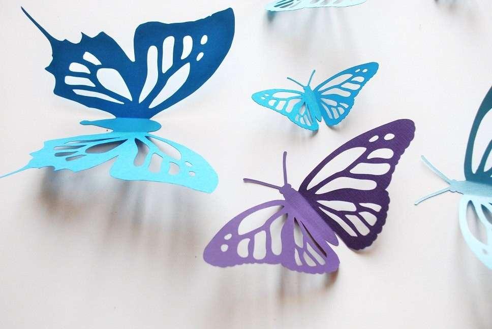 Farfalle di carta fai da te da realizzare con i bambini [FOTO]