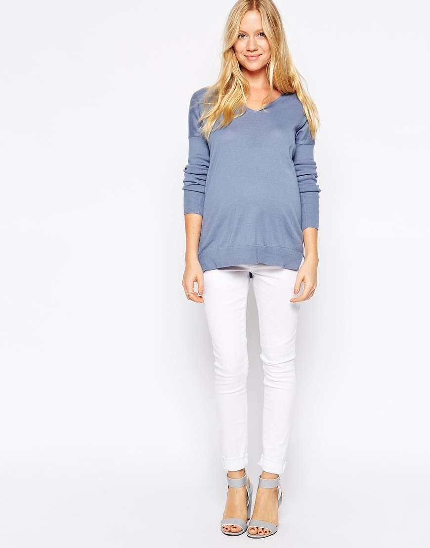 Jeans premaman bianchi Asos