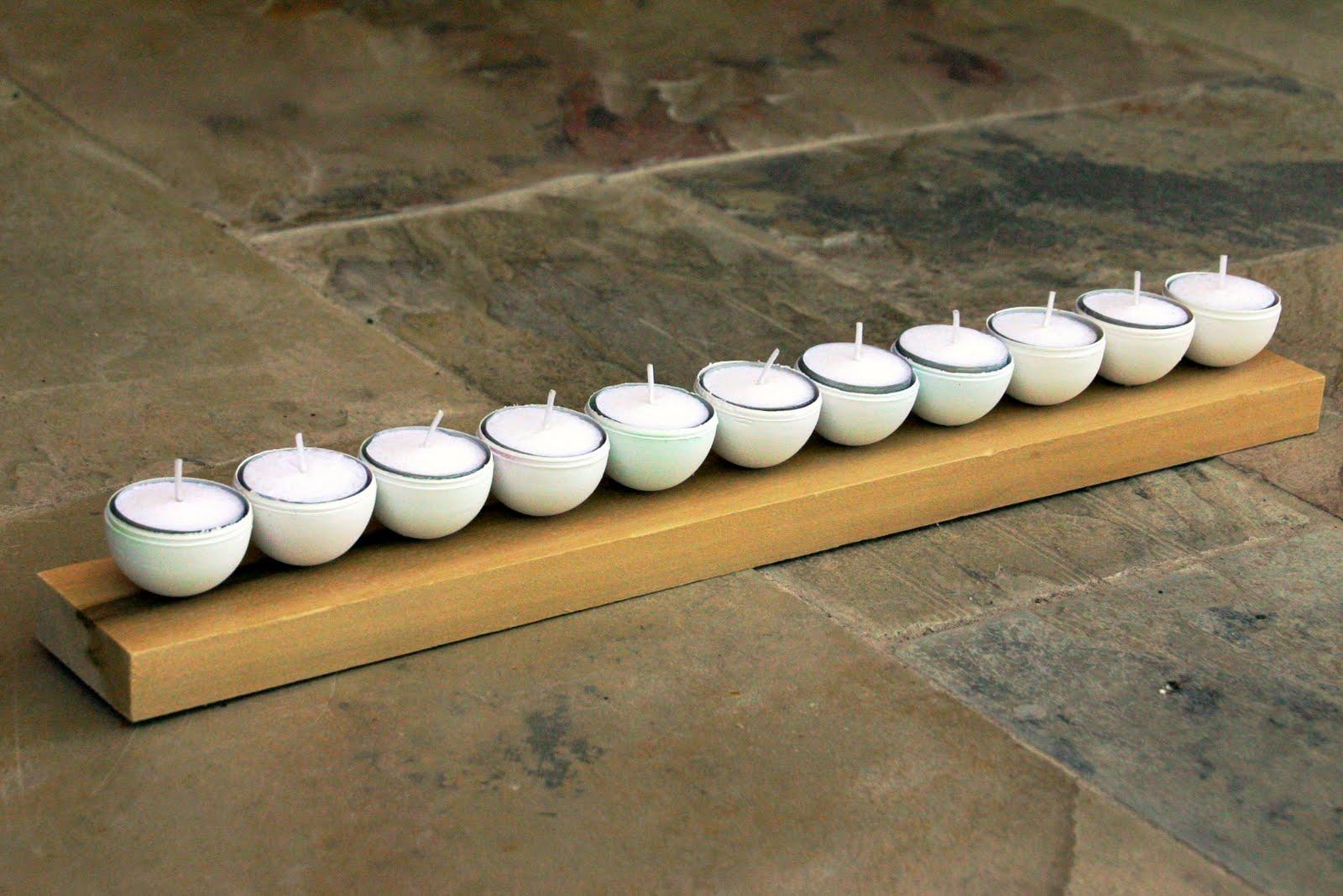 riciclo creativo uova portacandele