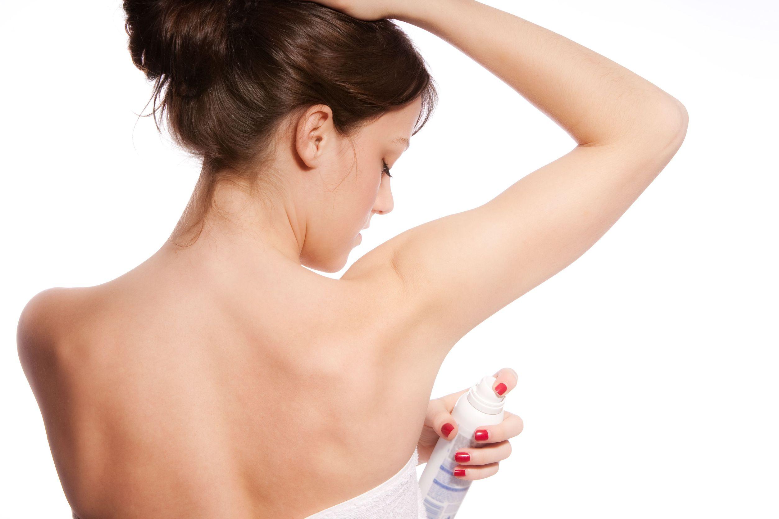 woman deodorant