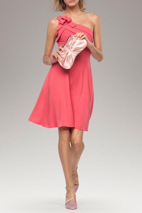 abito rosa in cady