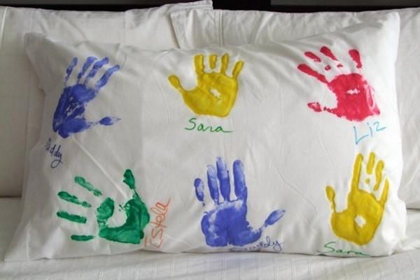 Cuscino con impronte