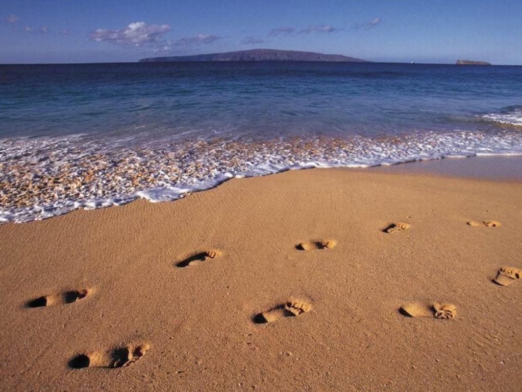 Camminare sulla spiaggia k