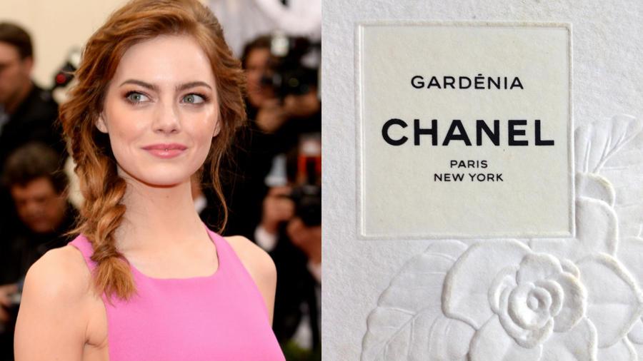 Emma stone Gardenia di Chanel
