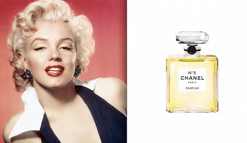 Marylin Monroe e Chanel n 5
