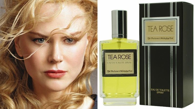Nicola Kidman con Tea Rose di Ther Perfumer's Workshop