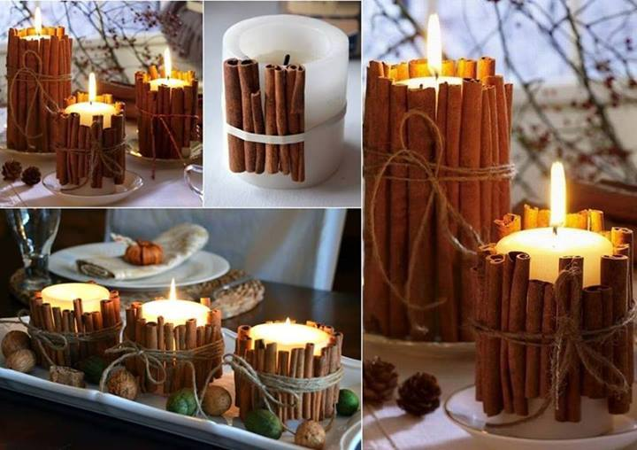 candele diy cannella