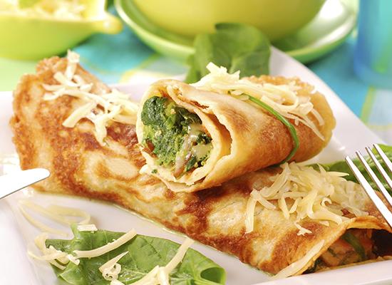 Crepes ai broccoli e formaggio, ricetta light