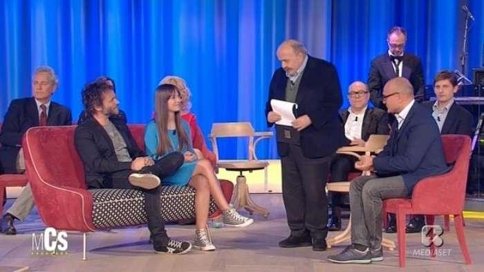 Nek e la figlia Martina al Maurizio Costanzo Show