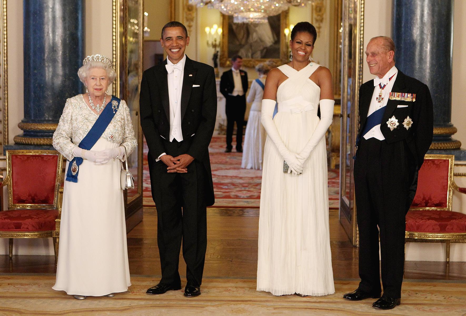 Michelle Obama e la regina Elisabetta