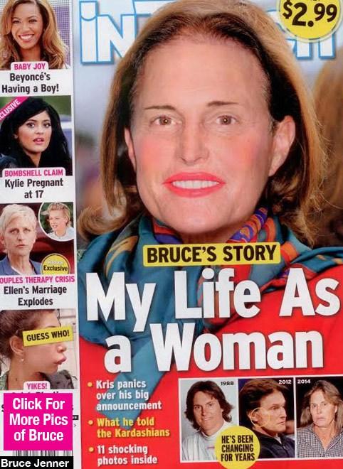 Bruce Jenner donna in copertina su InTouch