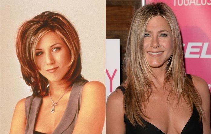 Jennifer Aniston prima e dopo