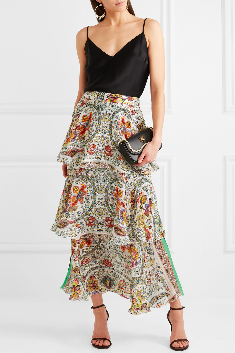 Look con gonna boho chic Etro