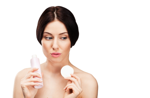 Woman Holding Astringent